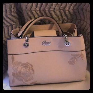 Guess chain strap purse rose gold